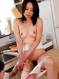 Sexy girl Nanako Misaki showing off