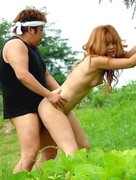 Sarina Tsubaki gets nailed outdoor