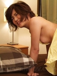 Asian Kaede Oshiro aroused with toy on clit