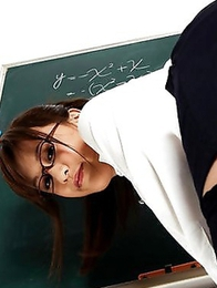 Watch how a lusty teacher Kotomi Nagisa is slowly undressing