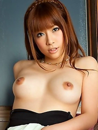 Azusa Maki is deeply in love with her own wonderful tits
