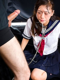 Schoolgirl Reika Yamada begs for cock and gets just that - shoved hard down her throat until she squirms, gags and cries.