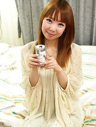 Beautiful Japanese teen Akane Okuno acting sweet and innocent while taking her clothes off