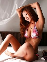 Kana Tsugihara with huge knockers takes her clothes off