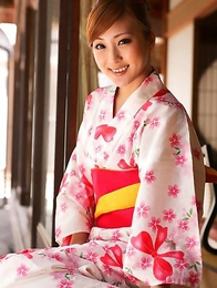 Natsuko Tatsumi takes geisha dress off and shows racy body