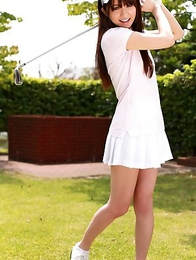 Nana Ozaki exposes big assets and hot bum during golf game