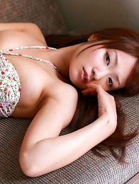 Misaki Nito reveals hot curves in colorful lingerie outdoor