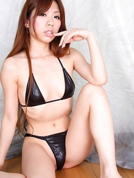 Meru Amamiya is wild cowgirl showing lustful curves to cam