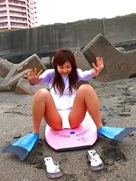Rina Nagasaki shows hot body in various outfits outdoor