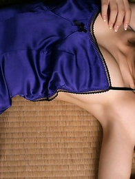 Meguru Ishii in sexy mauve dress is so hard to resist
