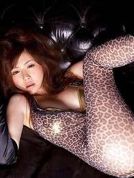 Anri Sugihara with huge jugs is wild creature playing a lot