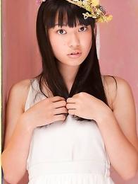 Tomoe Yamanaka in white dress is beautiful like summer days