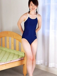 Naoko Sawano has sexy pigtails and hot curves in bath suit