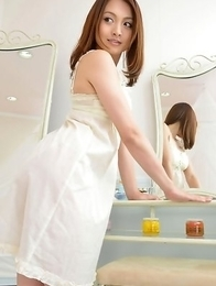 Rina Itoh in white lingerie is cute princesse playing a lot