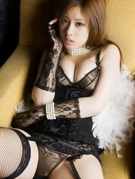 Ayaka Noda with sexy corset has big boobs and juicy behind
