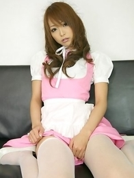 Momoka Narushima in long sucks is very sexy house keeper