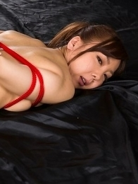 Mio Yoshida showing off her juicy pussy while all tied up and fucked